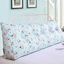 Sofa Kissen Nachtkissen Große dreieckigen Kissen Bett Rückenlehne Baumwolle Leinwand Fenster und Sofakissen Haushalt Kissen Büro Lendenkissen