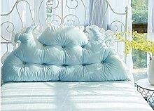Sofa Kissen Nachtkissen Large Bett Kissen auf dem Bett Matratze Bett Kissen Large Single - Kissen Double - Kissen Haushalt Kissen Büro Lendenkissen ( farbe : Blau , größe : 120cm )