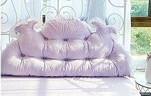 Sofa Kissen Nachtkissen Large Bett Kissen auf dem Bett Matratze Bett Kissen Large Single - Kissen Double - Kissen Haushalt Kissen Büro Lendenkissen ( farbe : Lila , größe : 120cm )