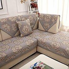 Sofa Kissen Vier Jahreszeiten Anti-Rutsch-Wohnzimmer Sofa Handtuch Kissen ( größe : 90*90cm )