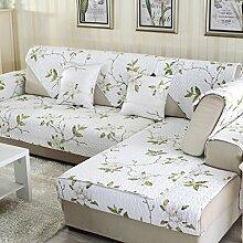 Sofa Kissen Vier Jahreszeiten Baumwolltuch Anti-Rutsch-Sofa Kissen Sofa Kissen Sofa Handtuch ( größe : 90*160cm )