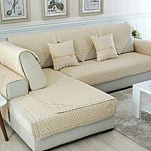 Sofa Kissen Vier Jahreszeiten Sofa Kissen Stoff Kissen Einfache Sofa Handtuch ( größe : 90*120cm )