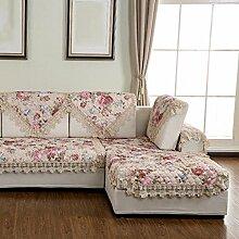 Sofa Kissen Vier Jahreszeiten Sofa Quilting Sofa Kissen Sofa Handtuch ( farbe : C , größe : 90*180cm )