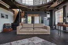 Sofa Ledersofa GIGANT 3,5-Sitzer Leder nobile taupe