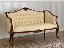 Sofa Megan Italienischer Barock Stil walnuss