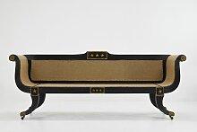 Sofa mit ebonisiertem Gestell, 19. Jh.