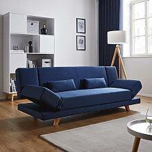 Sofa mit Schlaffunktion in Dunkelblau 'Faith