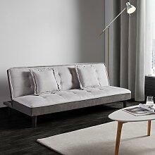 Sofa mit Schlaffunktion in Grau 'Babette'