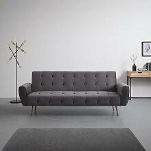 Sofa mit Schlaffunktion in Grau 'Megan'