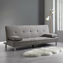 Sofa mit Schlaffunktion in Hellgrau
