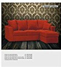 Sofa mit Stoff Halbinsel–Kunstleder weiß