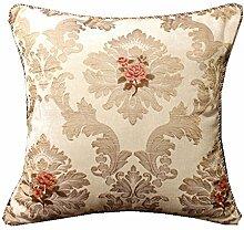 Sofa Pillow Cushion Covers,European Court Car Office Backrest Cushion,Non-core Custom Pillow-B 45x45cm(18x18inch)VersionA