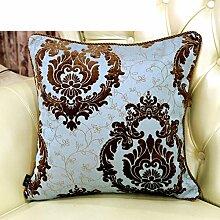 Sofa Pillow Cushion Covers,European-style Back Pad,Do Not Contain The Core Pillow-B 60x60cm(24x24inch)VersionB