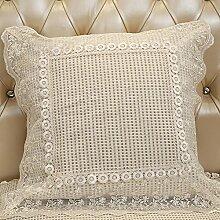 Sofa Pillow Cushion,Large Waist Back Cover,Modern Simple Bedside Pillow-B 50x50cm(20x20inch)VersionB