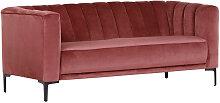 SOFA , Rot , 2-Sitzer , 180x76x87 cm ,