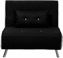 Sofa Schwarz Polsterbezug Einzelsofa Modern