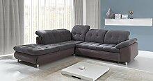 Sofa » SEVILLA « Elegante Wohnlandschaft inkl. Schlaffunktion