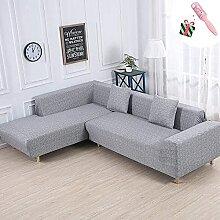 Sofa Slipcover Stretch Stoff 2 Platz L förmig