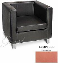 Sofa Sofa Sessel Kunstleder Bar Haus verschiedenen Farben Schaumstoff Cube giosal Lachsrosa