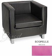Sofa Sofa Sessel Kunstleder Bar Haus verschiedenen Farben Schaumstoff Cube giosal Lilla