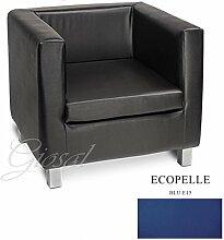 Sofa Sofa Sessel Kunstleder Bar Haus verschiedenen Farben Schaumstoff Cube giosal blau