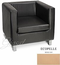 Sofa Sofa Sessel Kunstleder Bar Haus verschiedenen Farben Schaumstoff Cube giosal beige
