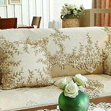 Sofa Spitze bestickte Handtuch/[Rückenlehne Handtuch]/Sofa-Kissen-A 80x120cm(31x47inch)
