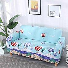 Sofa-Überwürfe,Blue Beach Hot Air Balloon