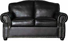 Sofa Vintage Chesterfield Sir Ledersofa 2 Sitzer