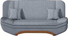 Sofa Weronika Lux mit Bettkasten und Schlaffunktion, Schlafsofa, Große Farb- und Materialauswahl, Couch vom Hersteller, Wohnlandschaft (Dot 95)
