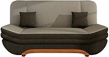 Sofa Weronika Lux mit Bettkasten und Schlaffunktion, Schlafsofa, Große Farb- und Materialauswahl, Couch vom Hersteller, Wohnlandschaft (Bahama 08 + Bahama 09)