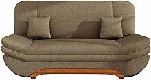 Sofa Weronika Lux mit Bettkasten und Schlaffunktion, Schlafsofa, Große Farb- und Materialauswahl, Couch vom Hersteller, Wohnlandschaft (Bahama 06)