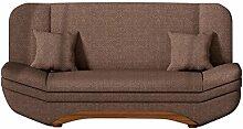 Sofa Weronika Lux mit Bettkasten und Schlaffunktion, Schlafsofa, Große Farb- und Materialauswahl, Couch vom Hersteller, Wohnlandschaft (Dot 25)