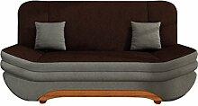 Sofa Weronika Style mit Bettkasten und Schlaffunktion, Couch vom Hersteller, Microfaser, Schlafcouch, Schlafsofa, Wohnlandschaft (Alova 10 + Alova 68)