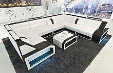 Sofa Wohnlandschaft Pesaro in der U Form mit LED