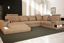 Sofa Wohnlandschaft Stoffsofa Design Eck Couch
