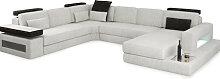 Sofa Wohnlandschaft  U-Form Stoffsofa Design Eck