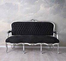 Sofa XL Sitzbank Barock Couch Samtsofa