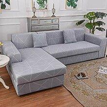 Sofabezug Anthrazitgrau Geometrisch Sofa überzug
