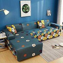 Sofabezug Dunkelgelbe Blume Sofa überzug Stretch