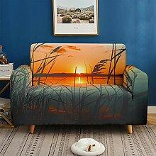 Sofabezug Elastisch 2 Sitzer Natur Landschaft