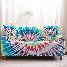 Sofabezug Geflochten Blau Gelb Sofa überzug