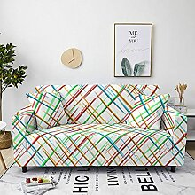 Sofabezug Grünbrauner Druck Sofa überzug Stretch