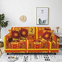 Sofabezug Orangefarbenes Sonnenmuster Sofa