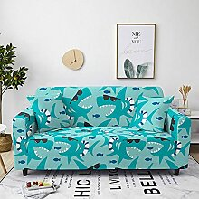 Sofabezug Taupegrün-Violett Sofa überzug Stretch