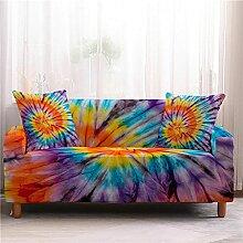 Sofabezug Vintage Orange Blau Sofa überzug
