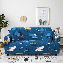 Sofabezug Wasserblaue Blume Sofa überzug Stretch