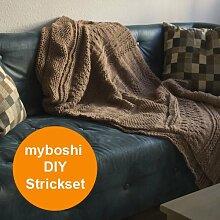 Sofadecke stricken – Strickset für Decke Tucson