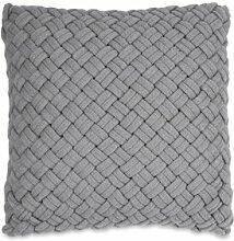 Sofakissen Chunky Knit DKNY Farbe: Grau