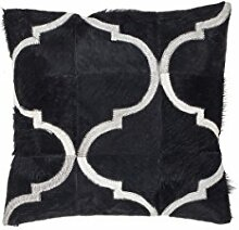 Sofakissen Kopfkissen Dekokissen Couch- oder Palettenkissen Lounge Rückenkissen Design Lavish Pillow 310 Schwarz 100% Leder 45x45cm | Teppiche günstig online kaufen